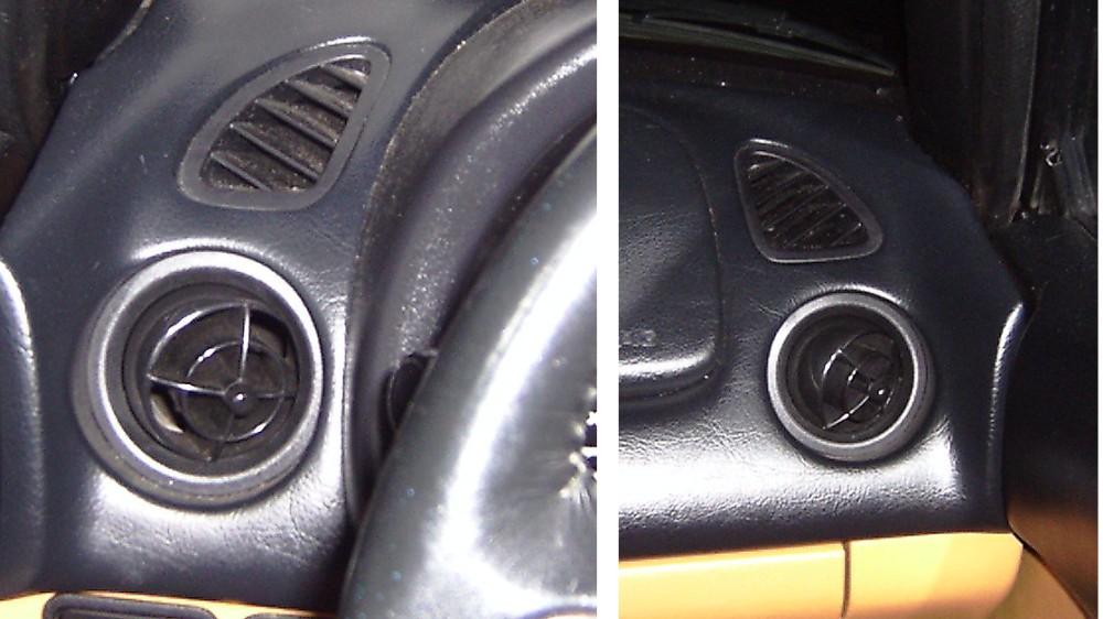Antique Automotive Louvered Air Intake Vents 1994 Honda